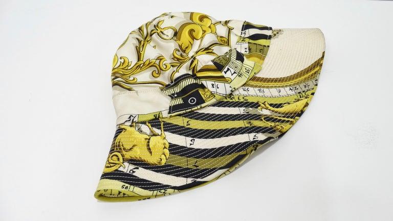 Hermés 1970s Astrology Bucket Hat  For Sale 4