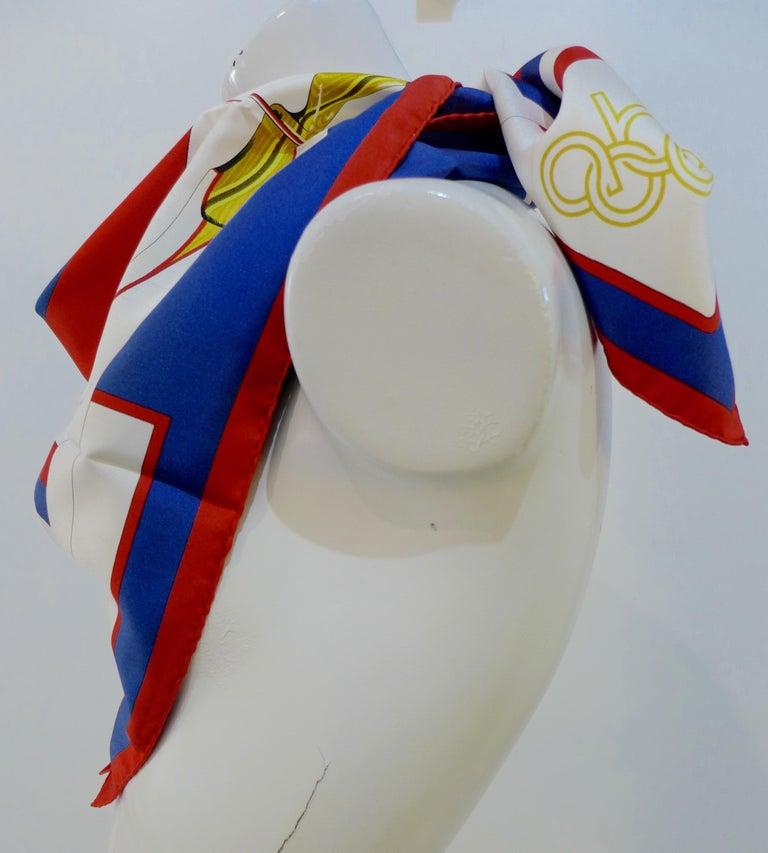 Hermès 1984 Summer Olympics Silk Scarf For Sale 1