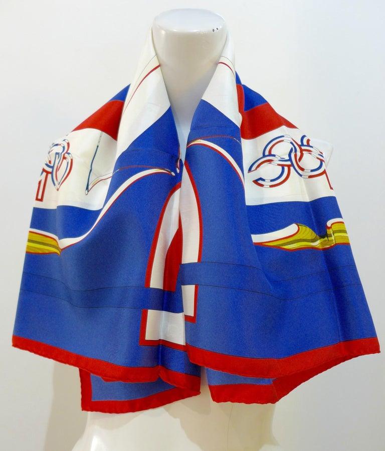 Hermès 1984 Summer Olympics Silk Scarf For Sale 3