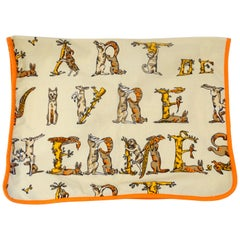 "Hermés 1990s ""Arte des Hermés"" Woodland Creature Decorative Towel"