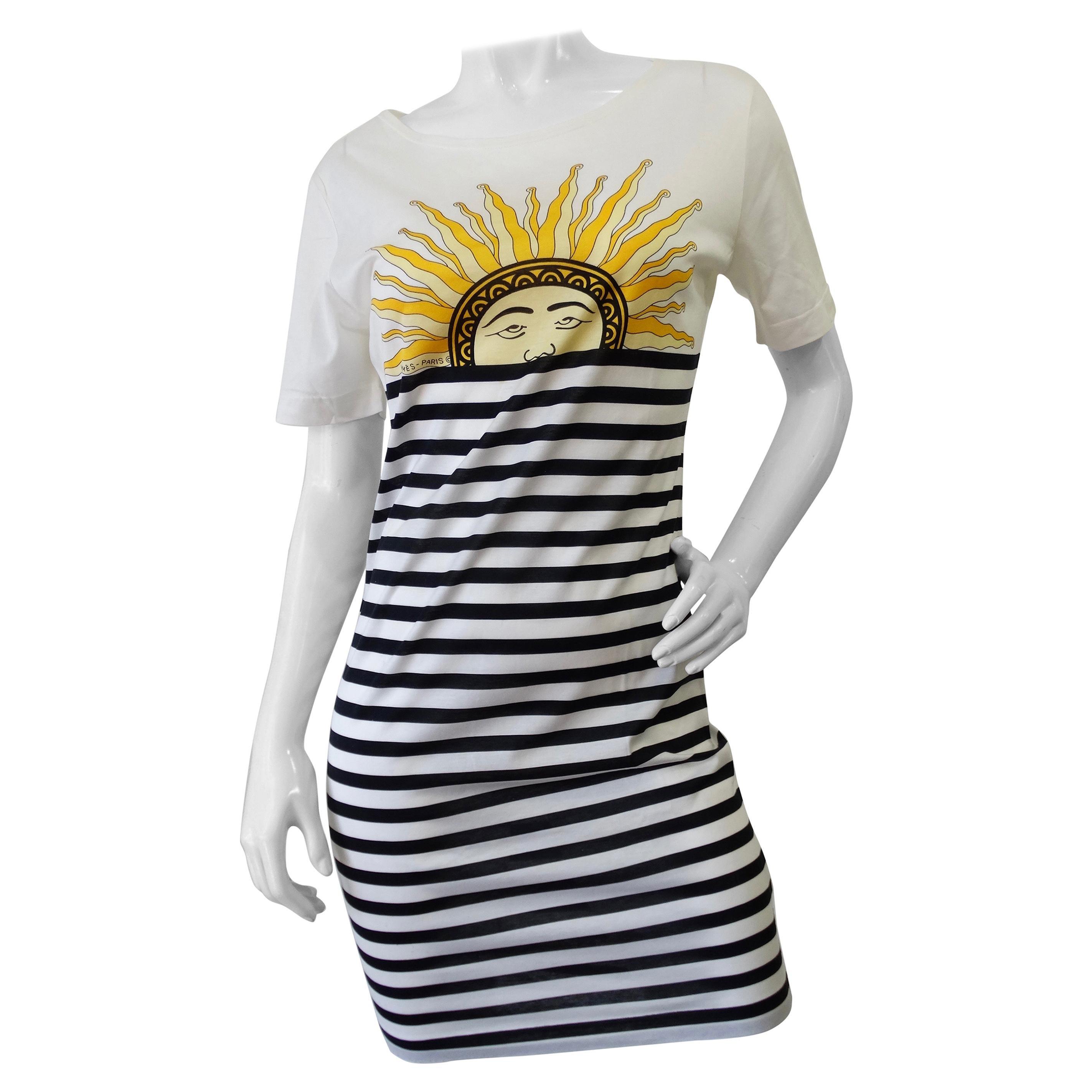 Hermés 1990s Celestial Sun Midi Dress