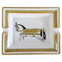 Hermés 2000s Decorated Cheval Horse Porcelain Tray