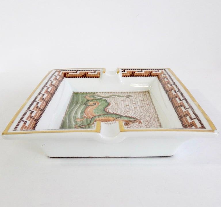 Hermés 2000s Hippocamp Porcelain Tray  For Sale 2
