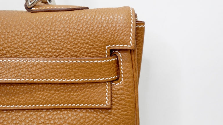 Hermès 2005 Kelly Retourne 35cm Gold Togo Leather  6