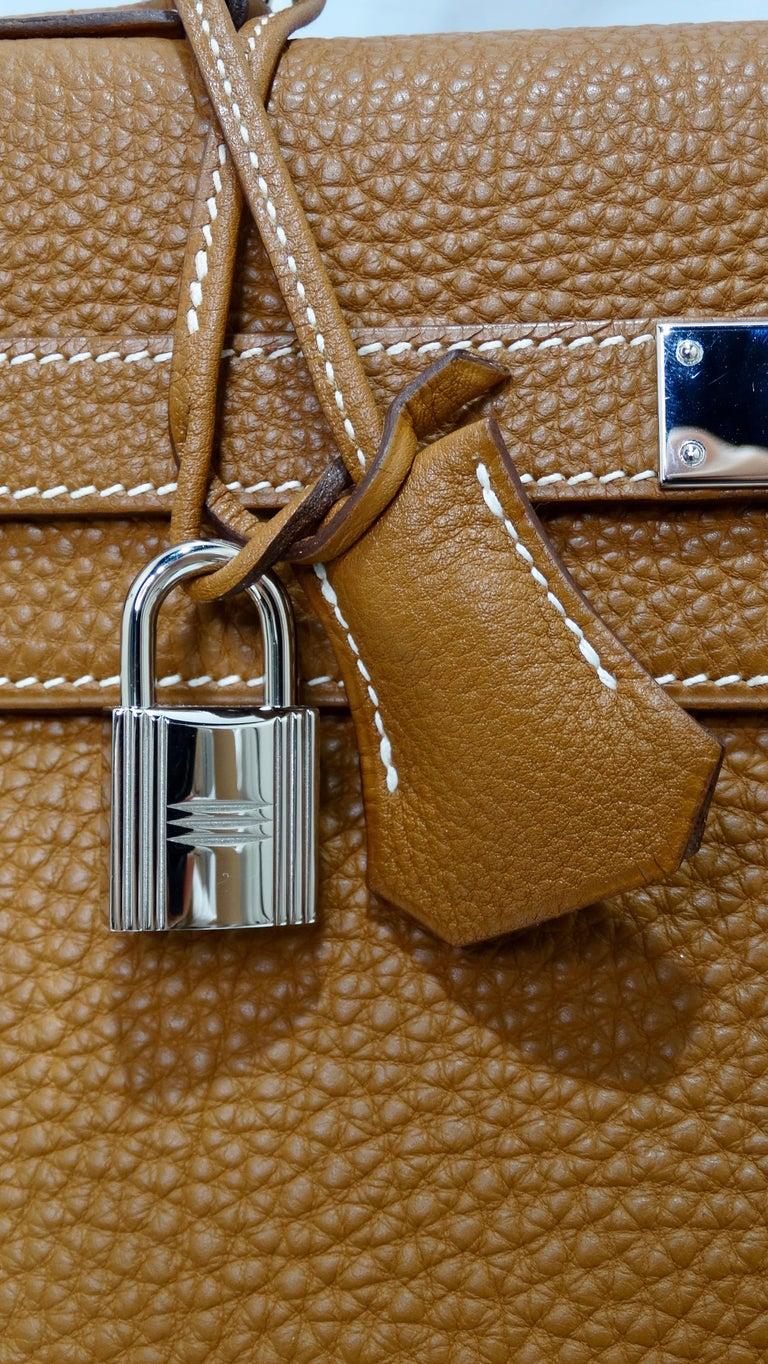 Hermès 2005 Kelly Retourne 35cm Gold Togo Leather  9