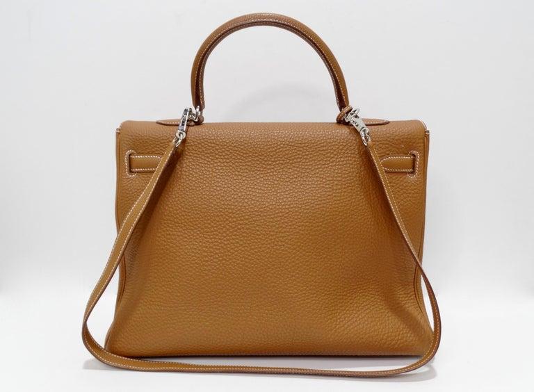 Hermès 2005 Kelly Retourne 35cm Gold Togo Leather  10