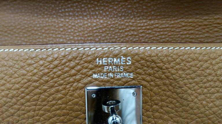 Hermès 2005 Kelly Retourne 35cm Gold Togo Leather  11