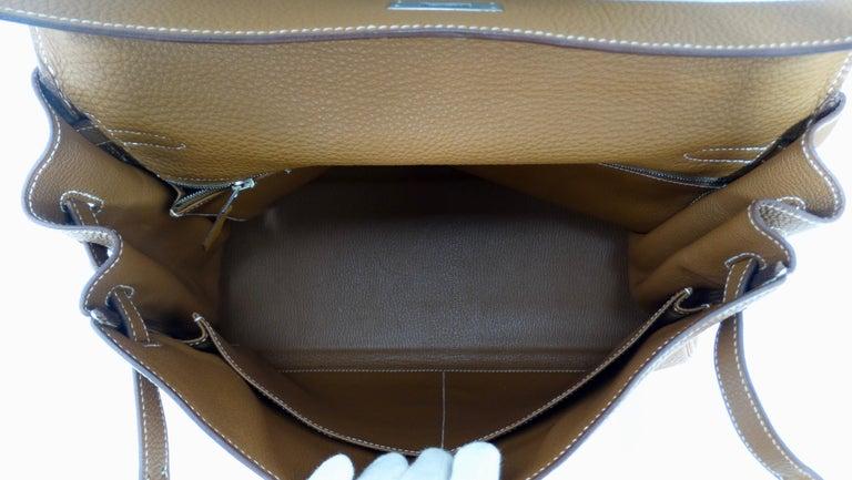 Hermès 2005 Kelly Retourne 35cm Gold Togo Leather  12