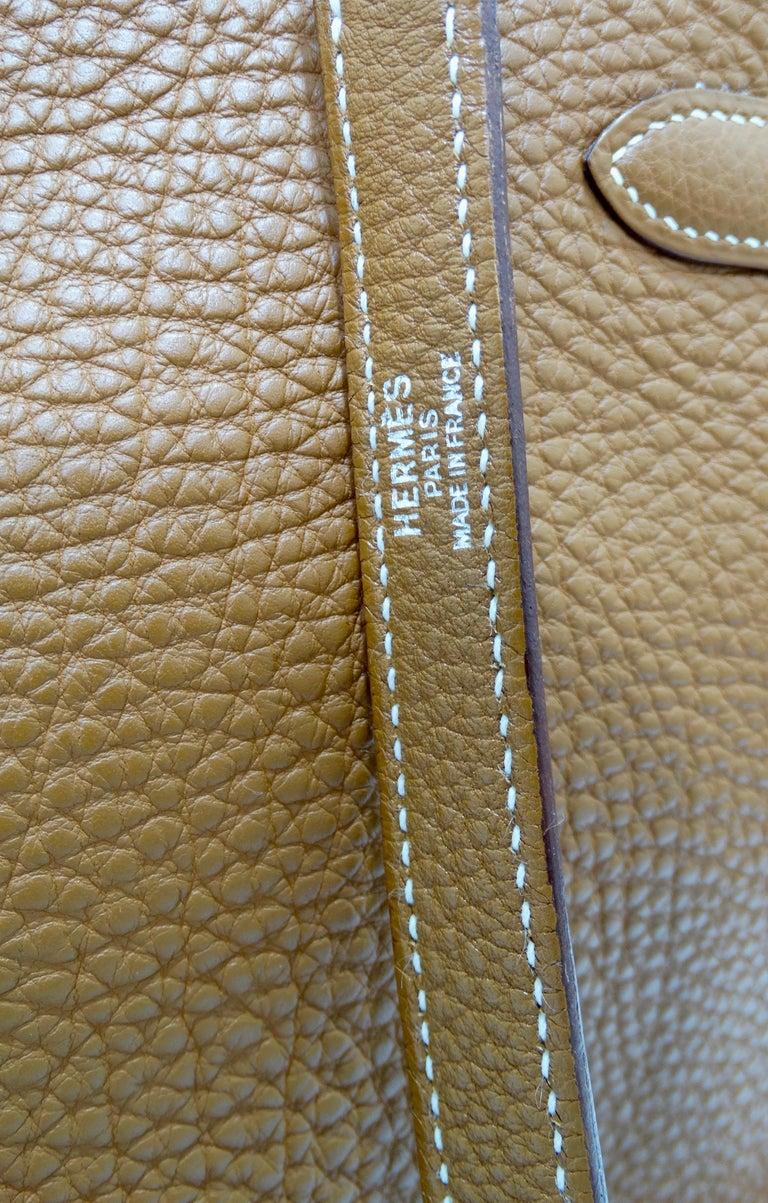 Hermès 2005 Kelly Retourne 35cm Gold Togo Leather  13