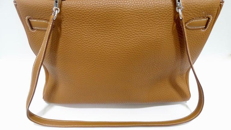 Hermès 2005 Kelly Retourne 35cm Gold Togo Leather  14