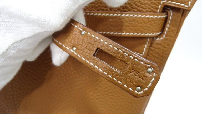 Brown Hermès 2005 Kelly Retourne 35cm Gold Togo Leather