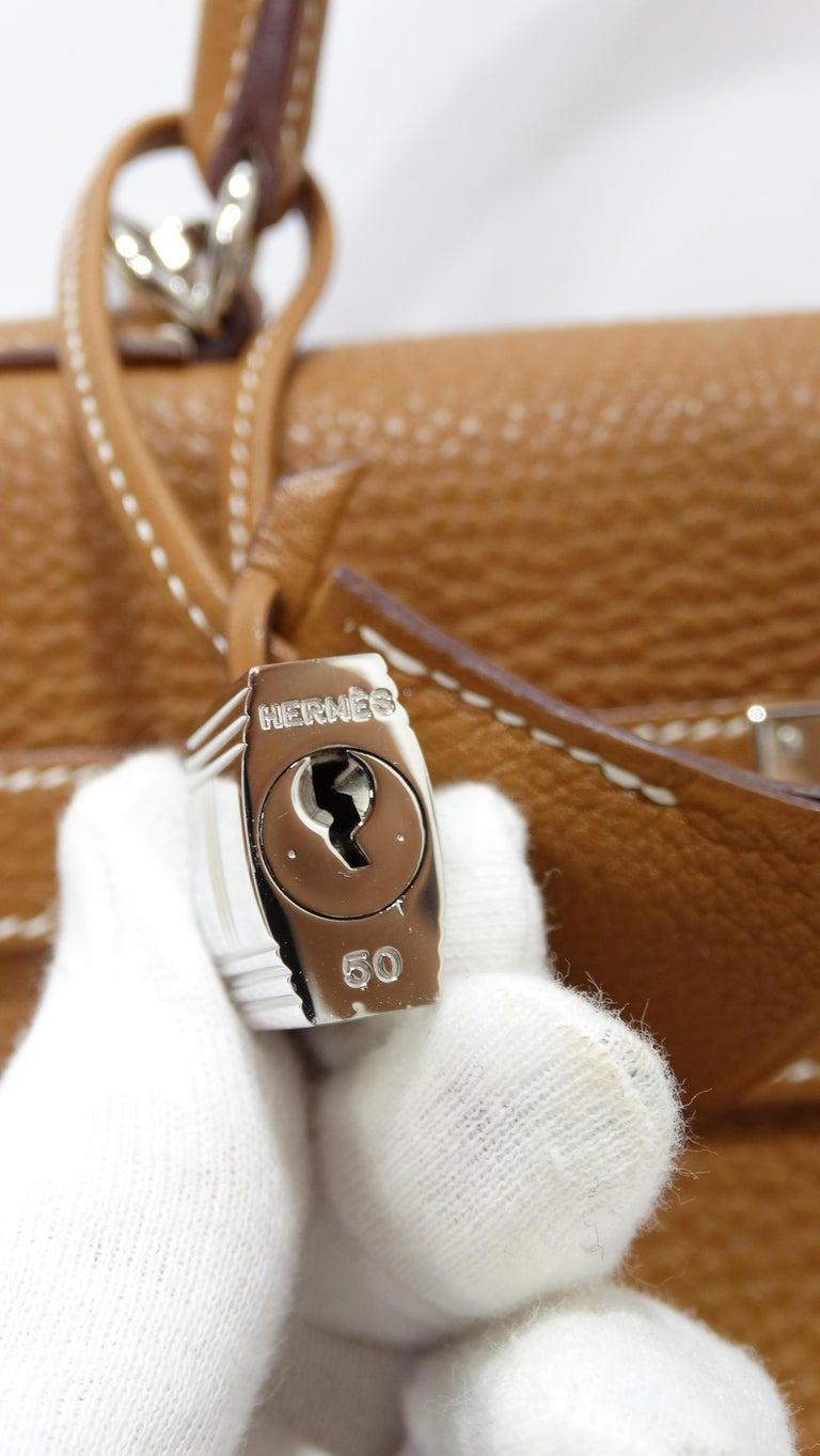 Hermès 2005 Kelly Retourne 35cm Gold Togo Leather  2