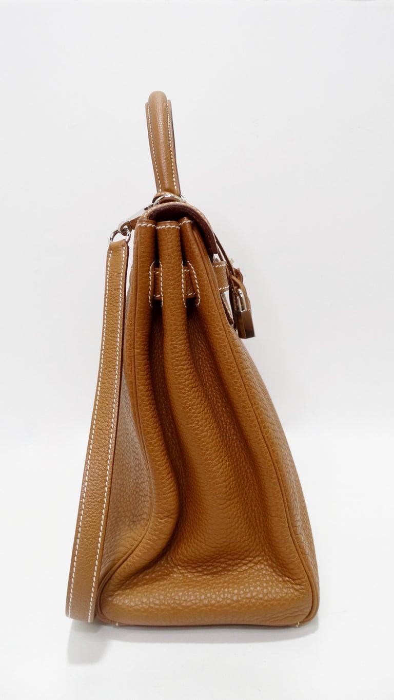 Hermès 2005 Kelly Retourne 35cm Gold Togo Leather  4