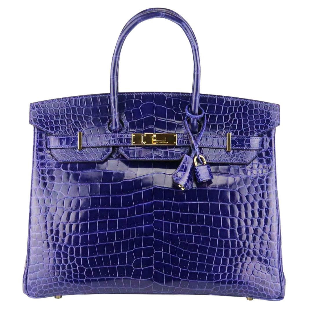 Hermès 2014 Birkin 35cm Porosus Crocodile Leather Bag