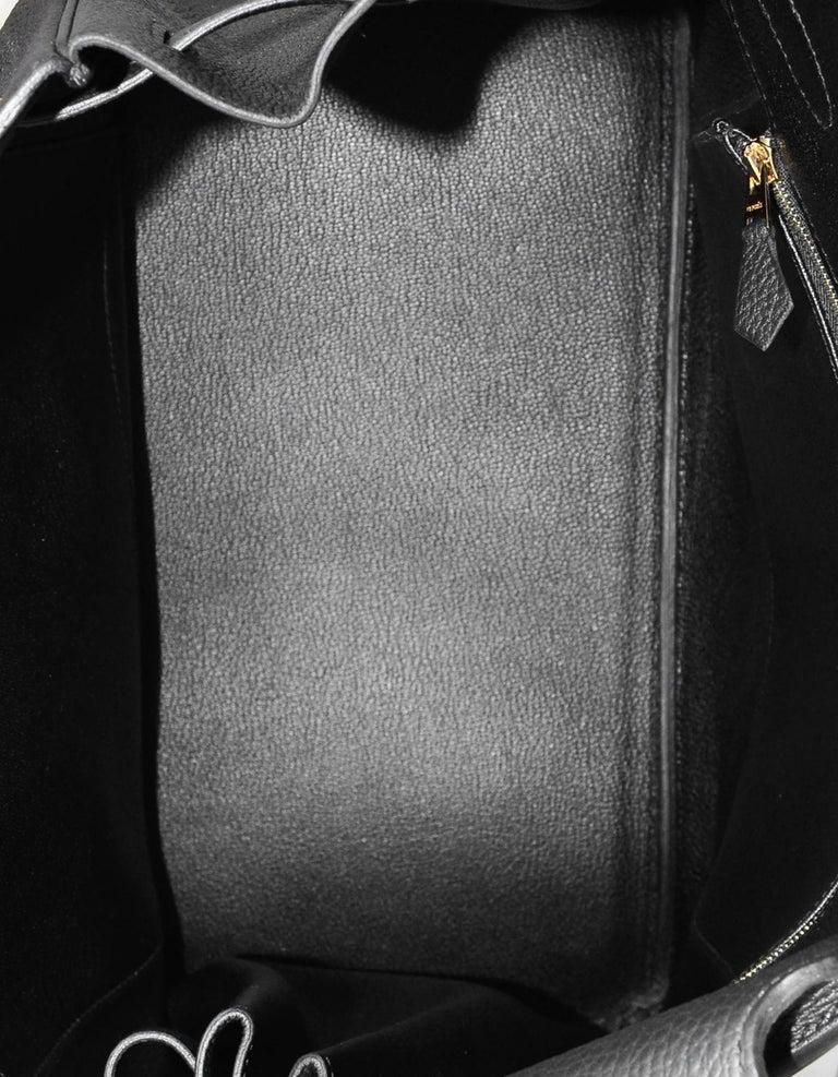 Hermes 2016 Black Togo Leather 35cm Birkin Bag w. Gold Hardware For Sale 6