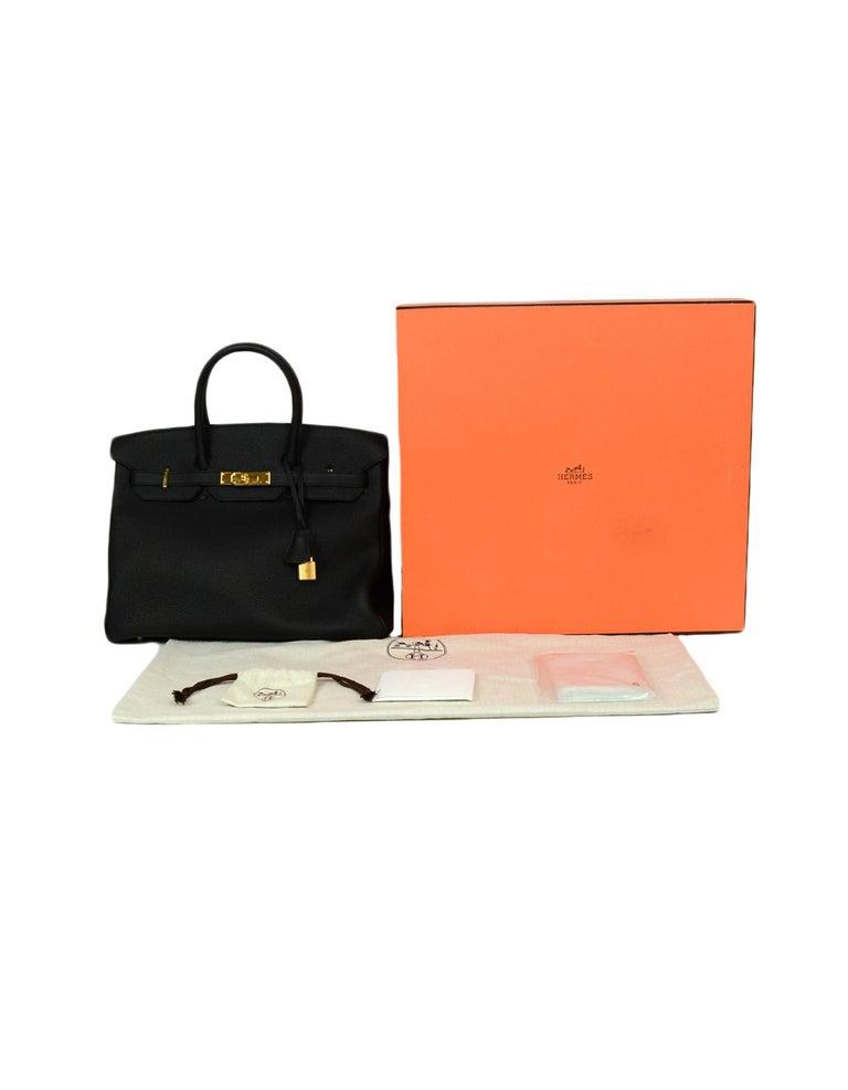 Hermes 2016 Black Togo Leather 35cm Birkin Bag w. Gold Hardware For Sale 7
