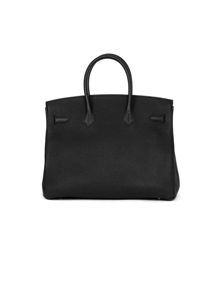 Hermes 2016 Black Togo Leather 35cm Birkin Bag w. Gold Hardware In Excellent Condition For Sale In New York, NY