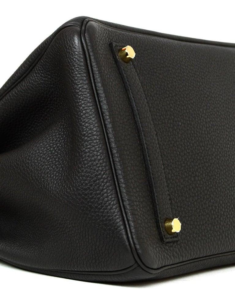 Women's or Men's Hermes 2016 Black Togo Leather 35cm Birkin Bag w. Gold Hardware For Sale