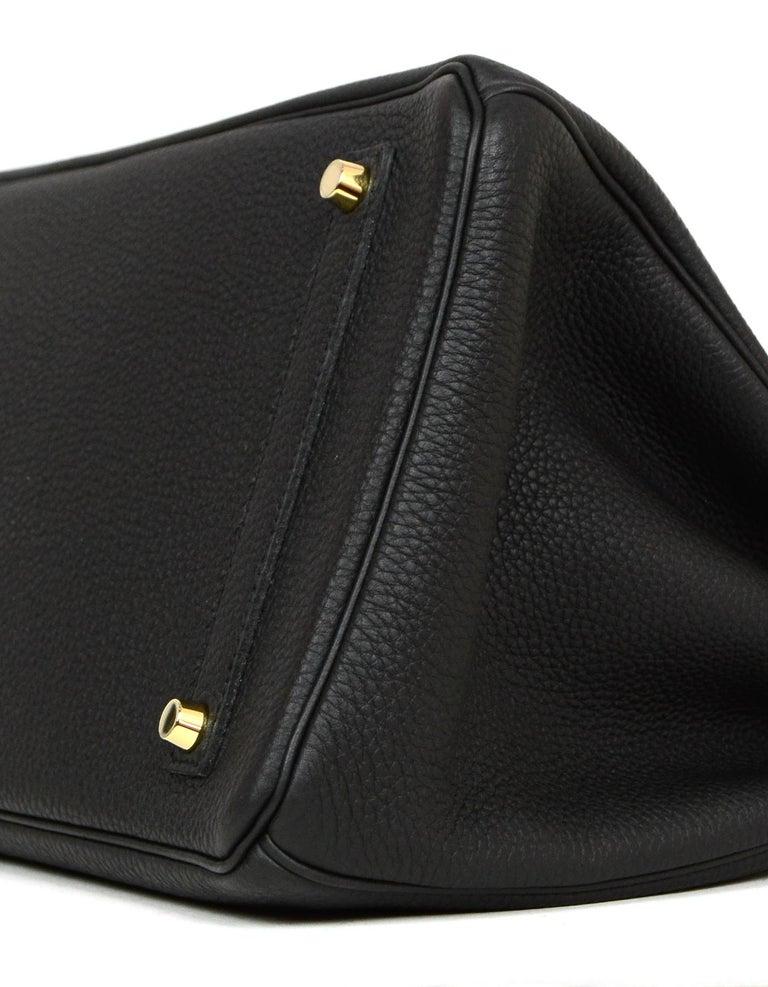 Hermes 2016 Black Togo Leather 35cm Birkin Bag w. Gold Hardware For Sale 1