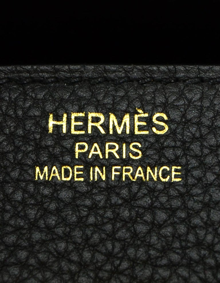Hermes 2016 Black Togo Leather 35cm Birkin Bag w. Gold Hardware For Sale 4