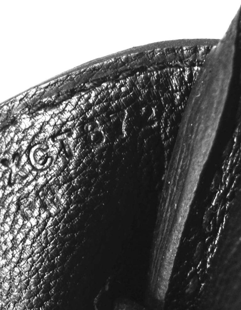 Hermes 2016 Black Togo Leather 35cm Birkin Bag w. Gold Hardware For Sale 5