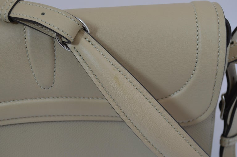 Hermes 2016 Harnais Khaki Shoulder Bag For Sale 7