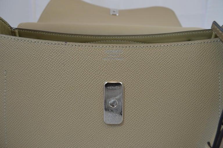 Hermes 2016 Harnais Khaki Shoulder Bag For Sale 10