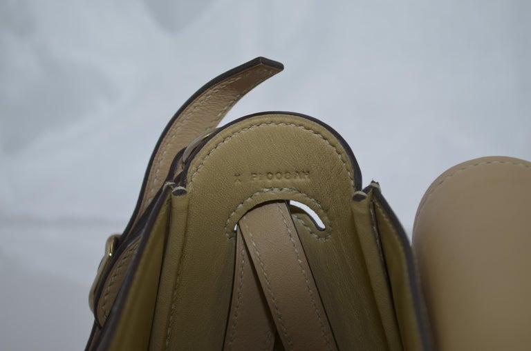 Hermes 2016 Harnais Khaki Shoulder Bag For Sale 12