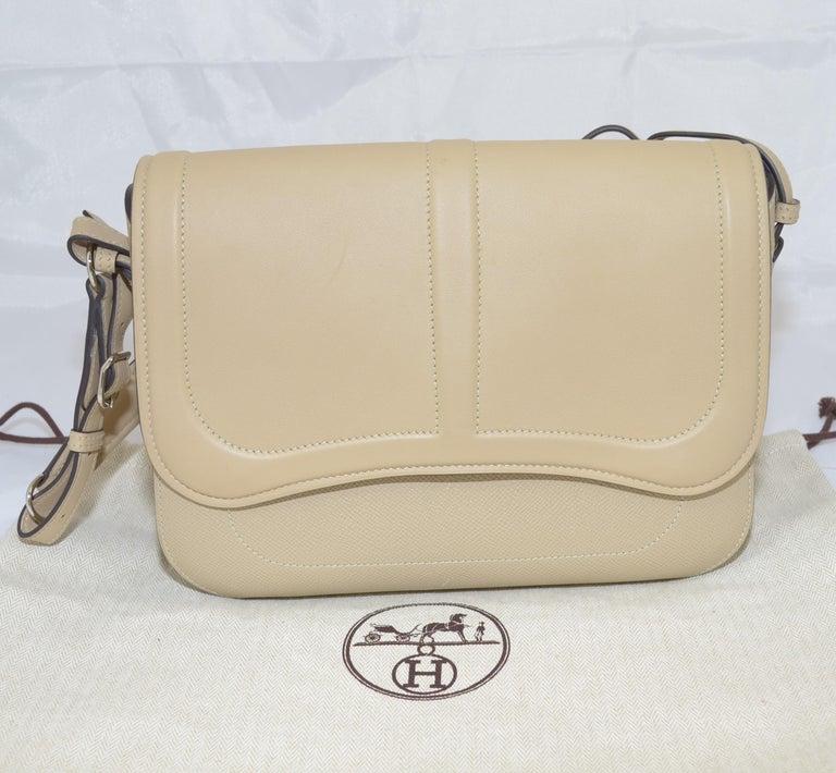 Brown Hermes 2016 Harnais Khaki Shoulder Bag For Sale