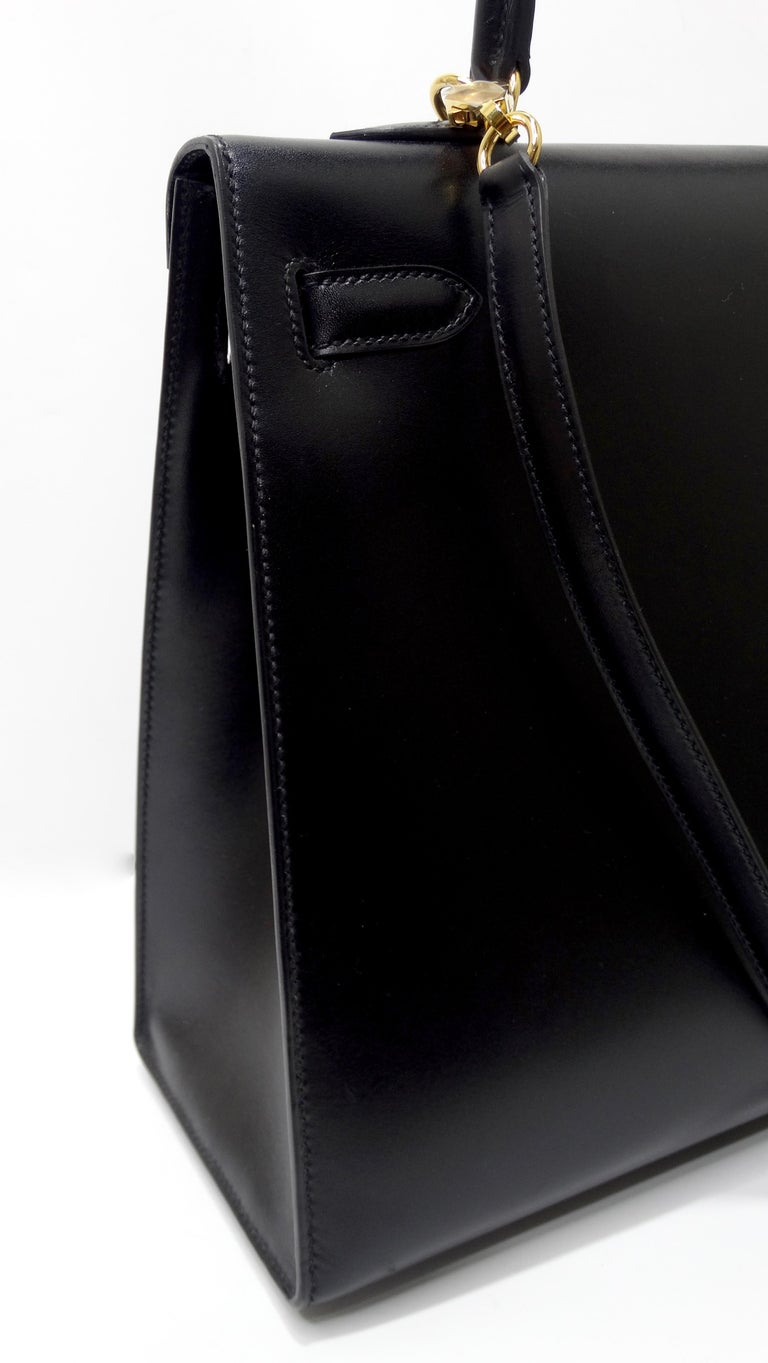 Hermès 2016 Kelly Sellier 35cm Black Box Leather  For Sale 15