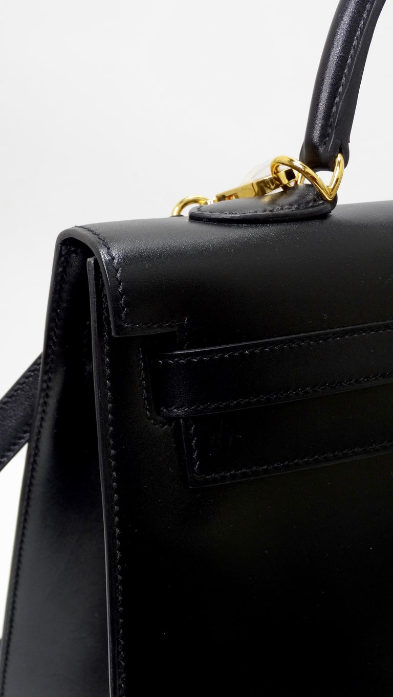 Hermès 2016 Kelly Sellier 35cm Black Box Leather  For Sale 1