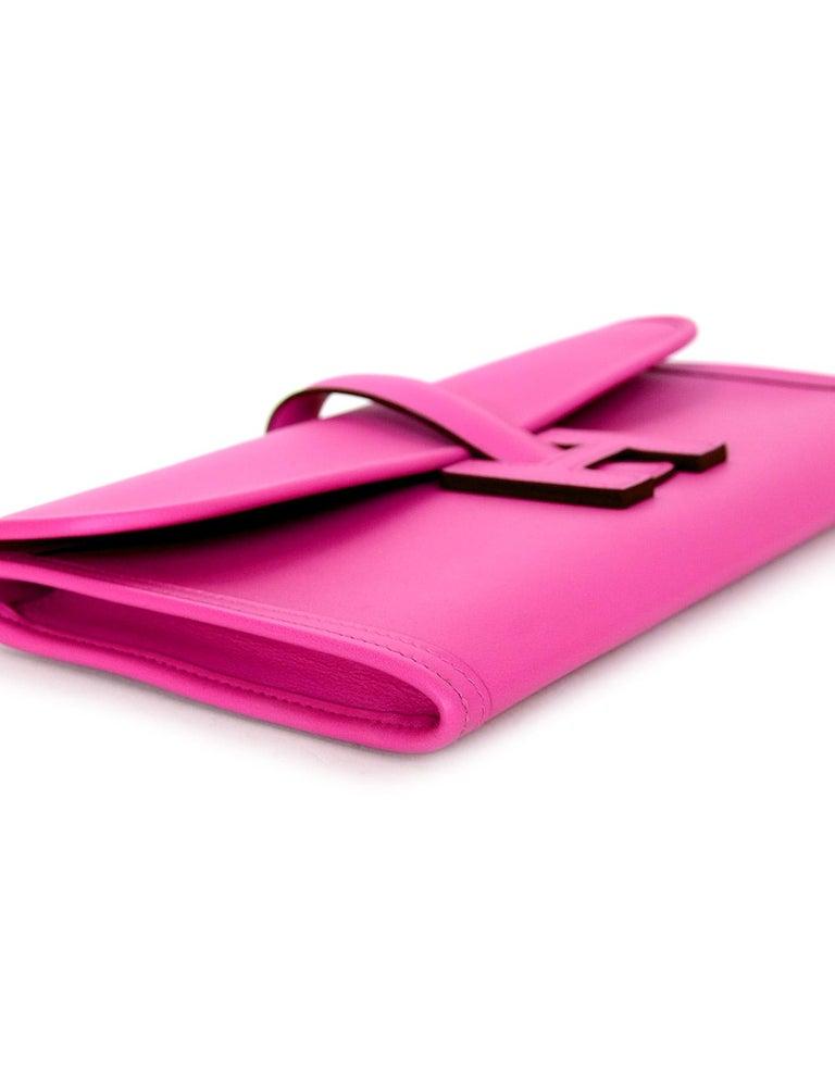 d6a48c5126c0 Hermes 2018 Magnolia Pink Swift Leather Jige Elan 29cm H Envelope Clutch Bag  For Sale 1