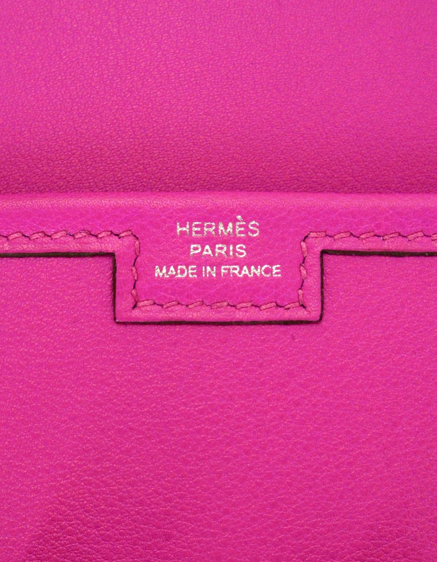 26361a9857c9 Hermes 2018 Magnolia Pink Swift Leather Jige Elan 29cm H Envelope Clutch Bag  at 1stdibs