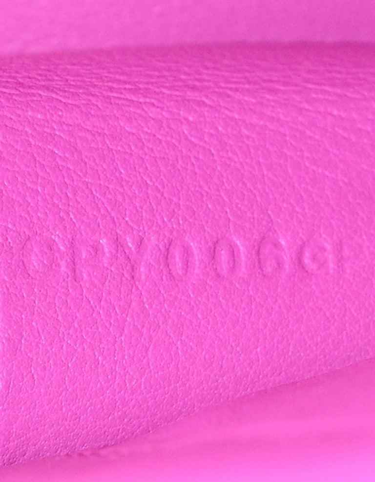 eafbd2dd4af0 Hermes 2018 Magnolia Pink Swift Leather Jige Elan 29cm H Envelope Clutch Bag  For Sale 4