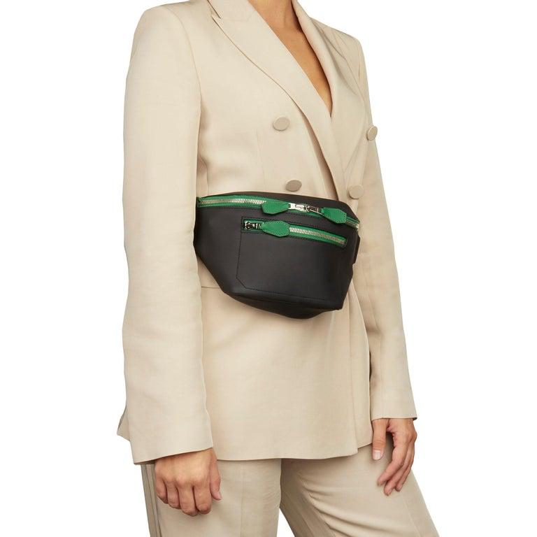 Hermès 2018 Plomb & Cactus Cristobal, Swift Leather Cityslide Cross PM For Sale 7