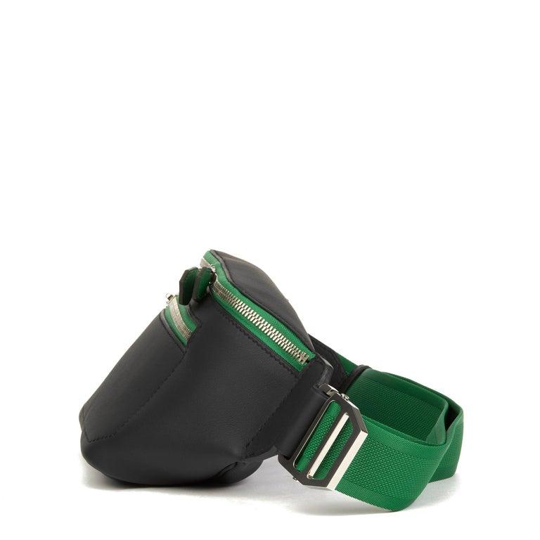 Black Hermès 2018 Plomb & Cactus Cristobal, Swift Leather Cityslide Cross PM For Sale