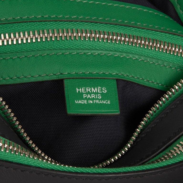 Hermès 2018 Plomb & Cactus Cristobal, Swift Leather Cityslide Cross PM For Sale 3