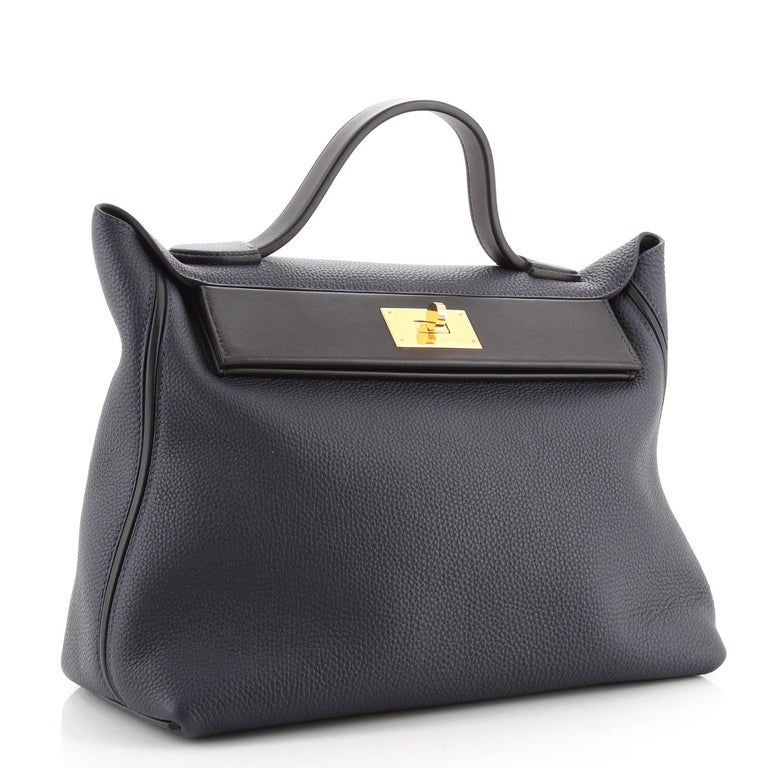 Hermes 24/24 Bag Togo with Swift 35 In Good Condition For Sale In New York, NY