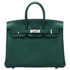 Hermès 25 Birkin Malachite