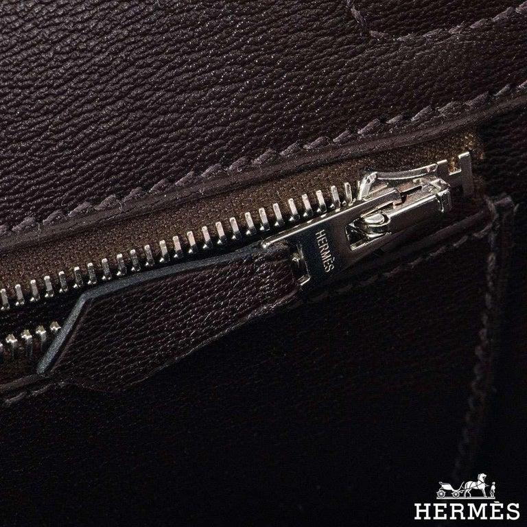 Women's Hermès 25cm Cacoan Shiny Niloticus Crocodile Birkin Bag For Sale