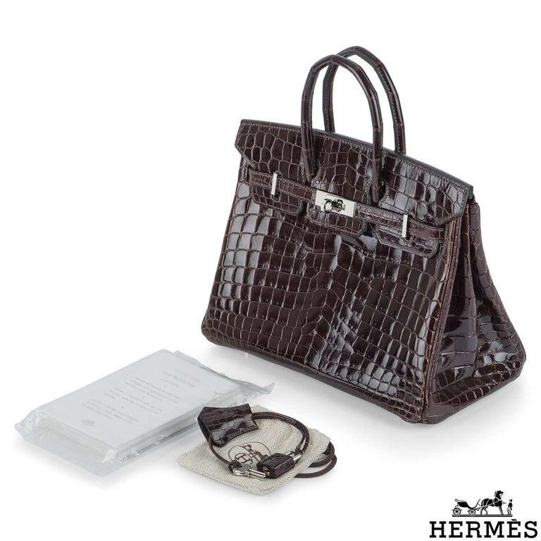 Hermès 25cm Cacoan Shiny Niloticus Crocodile Birkin Bag For Sale 1