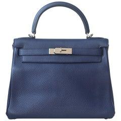 Hermès 28cm Togo Palladium H/W Kelly Retourne Bag