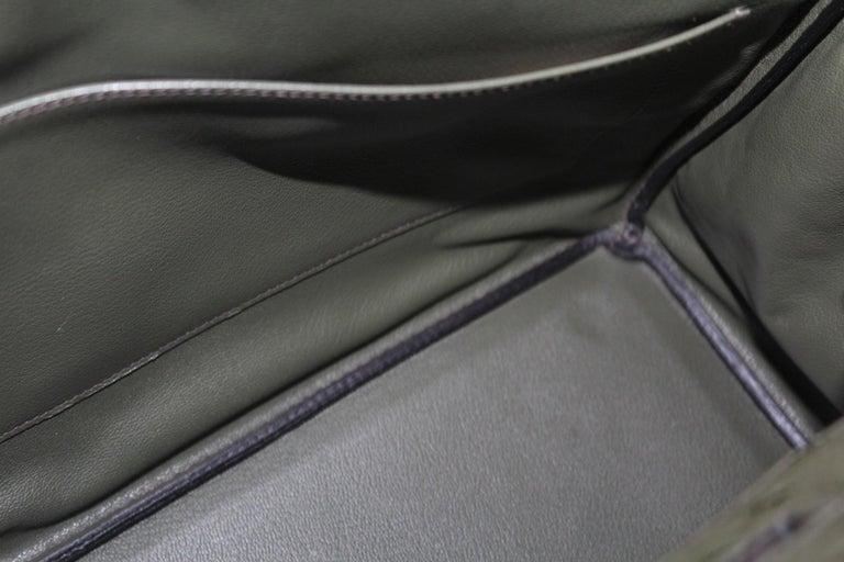 Hermes 30 cm Green Leather Birkin Bag For Sale 7