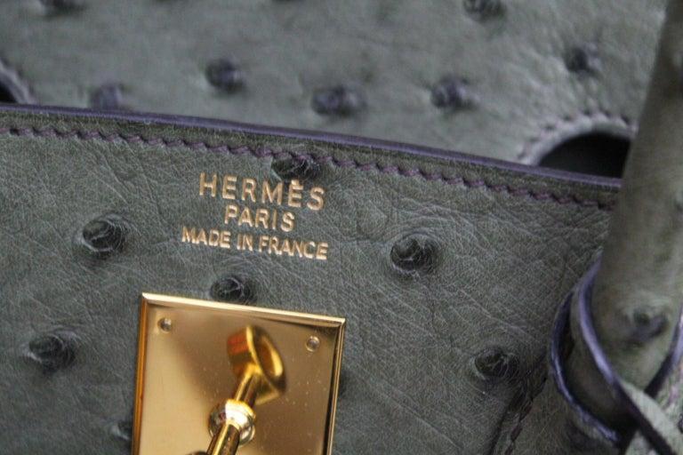 Hermes 30 cm Green Leather Birkin Bag For Sale 1