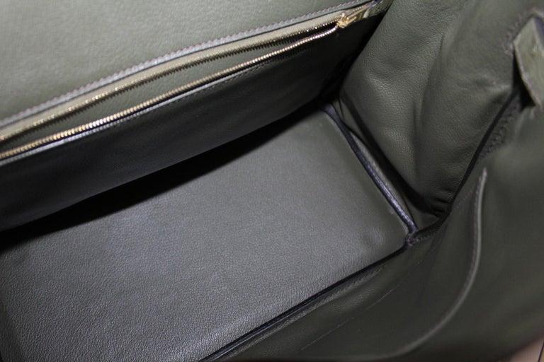 Hermes 30 cm Green Leather Birkin Bag For Sale 4