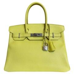 Hermès 30 cm Shocking Green Epsom Birkin Bag