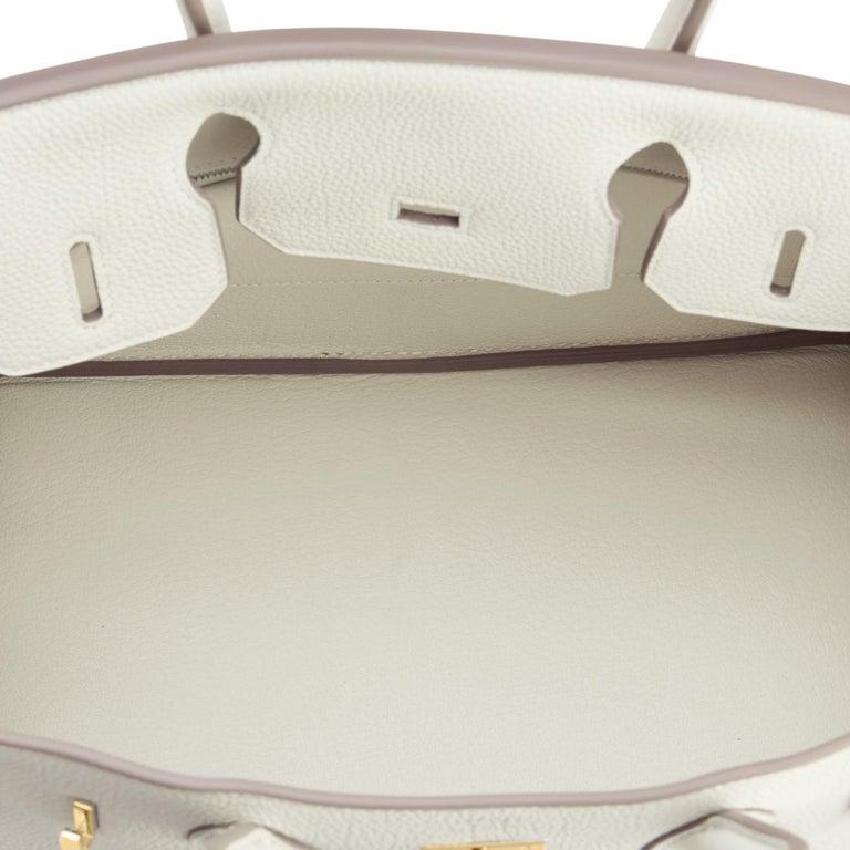 Hermes 30cm Birkin Craie Chalk Off White Gold Hardware For Sale 4
