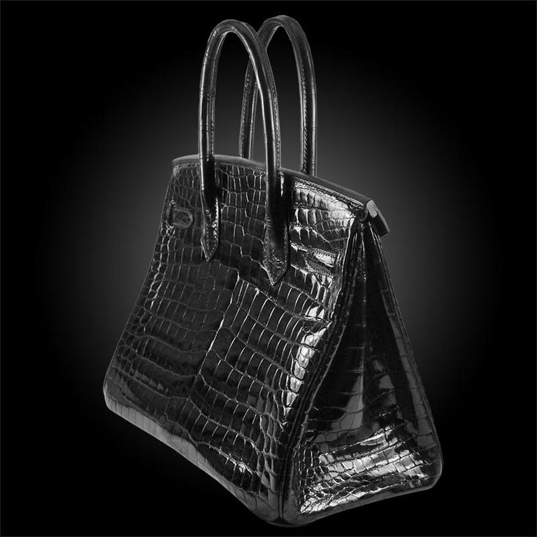 Hermes 30cm schwarz Birkin Tasche 4