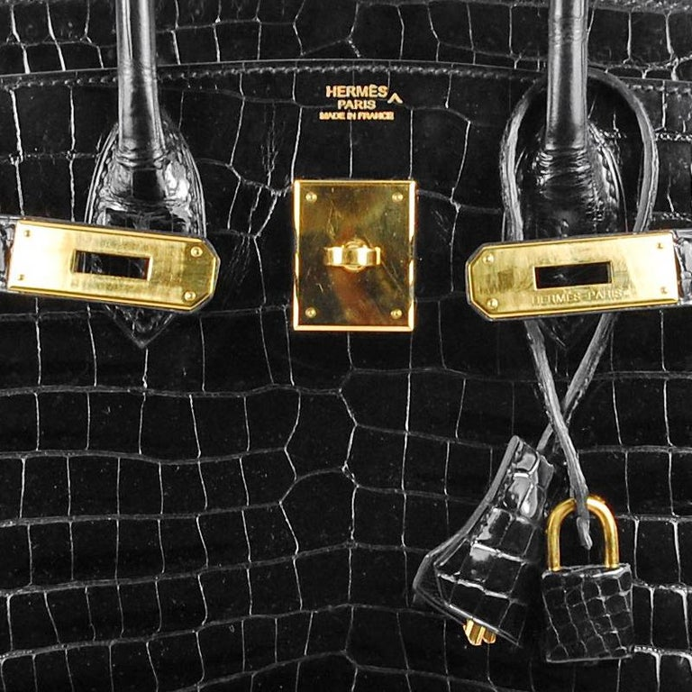 Hermes 30cm schwarz Birkin Tasche 5