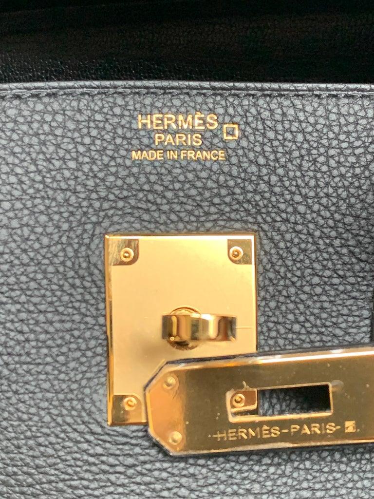 Hérmes 30cm Black Crocodile / Togo Birkin Touch Bag For Sale 4